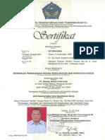 Sertifikat Ahli k3 Umum ( Sri Wandoko )
