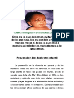 Prevención Delitos de Maltrato Infantil