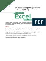 Cara Menghilangkan Error Pembagian Pada Excel