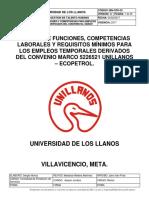 Mn-gth-02 Manual de Funciones y Competencias Para Empleos Temporales Derivados Del Convenio No. 5226521