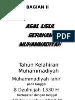 Bagian II; Asal Usul Gerakan Muhammadiyah - Copy