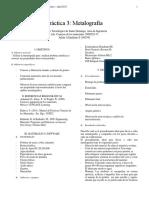 Ciencia Reporte 2 Metalografia