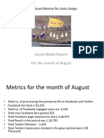 Social Media Report for August
