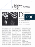 finding the right trumpet
