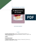 El Matrimonio en Cristo - Jose Maria Iraburu
