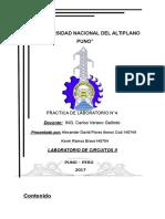 Informe 04 Laboratorio de Circuitos 2