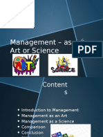 Management as Art or Science
