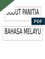 Sudut Panitia Bm