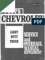 ST 330-75-1975 Chevrolet Light Truck Service Overhaul Supplement