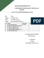 Daftar Hadir Presentasi