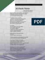 Poema Al Cholo Nieto