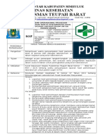 8.1.3.2 Sop Pemantauan Waktu Penyampaian Hasil Pemeriksaan Laboratorium Untuk Pasien Urgen, PUSKESMAS TGEUPAH BARAT(REZA)