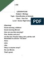 Lesson Plan Biology