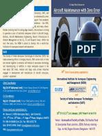 Brochure - Aircraft Maintenance With Zero Error Jan 2017