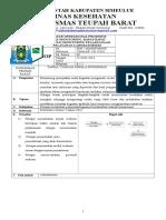 8.1.4.5 SOP Monitoring, Hasil Monitoring, Tindak Lanjut Monitoring, Rapat – Rapat Mengenai Monitoring Pelaksanaan Pelayanan Laboratorium, PUSKESMAS TEUPAH BARAT,( REZA)
