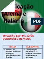 Unificação Da Itália e Da Alemanhã