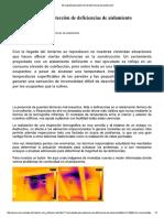 Termografía Para Detección de Deficiencias de Aislamiento