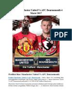 Prediksi Manchester United vs AFC Bournemouth 4 Maret 2017