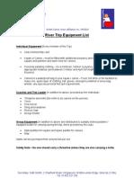 Trip Kit List Feb09