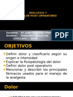 Analgesia Y DOLOR Post Operatorio