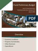 Irving Budget Update 2010-07-07