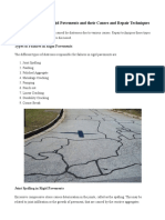 Types of Failures in Rigid Pavements - Causes and Repair Techniques
