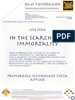 In the Search of Immortality.