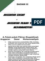 BAGIAN III; AD. ART. MUHAMMADIYAH.ppt