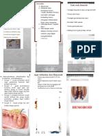 Leaflet Hemoroid