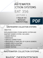 Wastewater Collection Systems Lecture Notes