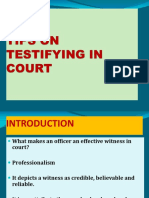 Tips on How to Testify in Court