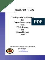 Standard PDI G102
