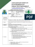 8.1.5.3 Sop Penyimpanan Dan Distribusi Reagen, PUSKESMAS TEUPAH BARAT, (REZA)