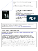 Intelligence Studies on the Continent
