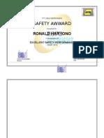 Safety Award PT Jasa Kita Bersama