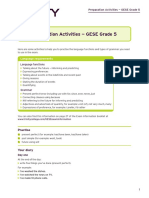 SELT Preparation Activities - GESE Grade 5