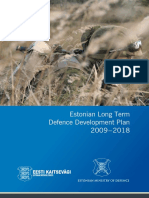 Estonian MoD 2009 - 2018 Development Plan