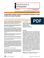 Teriparatide anabolic therapy as potential treatment of type II dens non-union fractures