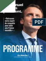 Programme d'Emmanuel Macron