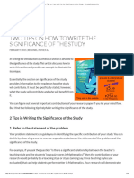 Two Tips on How to Write the Significance of the Study - SimplyEducate