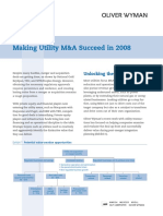 Making Utility M&a Succeed in 2008