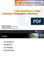 From F-t-f Teaching to Online Teaching