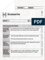IOSH Risk Assessment Form1
