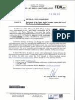 FDA Advisory No. 2017-013