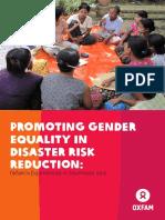 Promoting Gender Equality in Disaster Risk Reduction