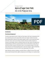 Sugar Cane Yearly Report Yield Australia Queensland