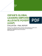 Evaluation of the Global Leaders Empowered to Alleviate Poverty (LEAP) Program