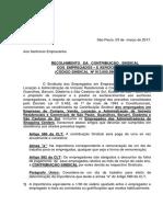 RECOLHIMENTO DA CONTRIBUIÇÃO SINDICAL DOS EMPREGADOS – EXERCÍCIO DE 2017