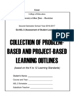 PBL Format in Assessment of Student Learning
