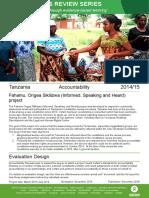 Accountability Review in Tanzania